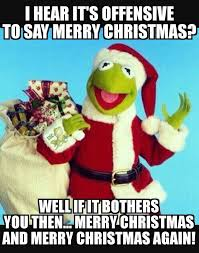 merry kermit the war on christmas know your meme