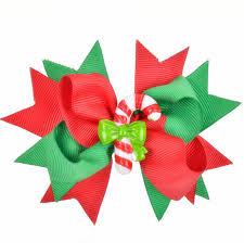 barretts hair 100pcs christmas green candy hair bow barretts ribbon