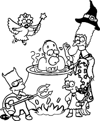 simpsons coloring pages kiopad me