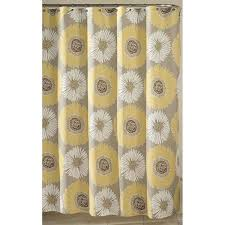 best of grey and yellow shower curtains decorating with charming