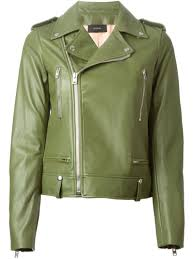 green motorcycle jacket joseph u0027ryder u0027 biker jacket in green lyst