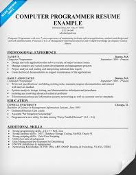 Computer Job Resume by Resume For Computer Programmer Http Jobresumesample Com 1418