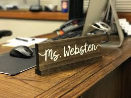 Name Tag On Desk Personalized Desk Name Plate Teacher Desk Sign By Ozarkfarmhouse