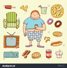 Fat Couch Potatoes Couch Potato Cartoon Vector Illustration Stock Vector 210931927