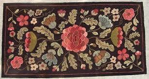 Floral Runner Rug with Primitive Rug Gallery Black Sheep Wool Designs Primitive Rug