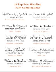 wedding invitations font 20 popular free wedding font combinations bonfx