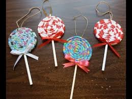 make a fabric lollipop ornament with scraps and
