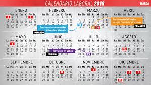 Calendario 2018 Feriados Portugal Calendario Laboral 2018 Todos Los Festivos Y Puentes Marca