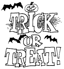 trick treat coloring pages coloring
