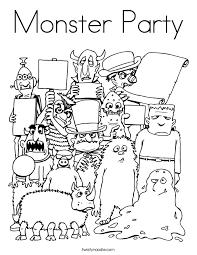 monster alien coloring pages twisty noodle