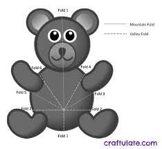 bear pop up card tutorial craftulate