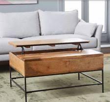 west elm industrial storage coffee table industrial coffee table ebay
