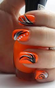 best 25 orange nail art ideas on pinterest orange nail summer