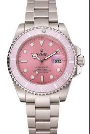 pink bracelet watches images Replica rolex submariner pink bezel pink dial automatic stainless jpg