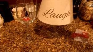 lamp centerpieces jus4sweetz lamp shade wine glass centerpiece decor youtube
