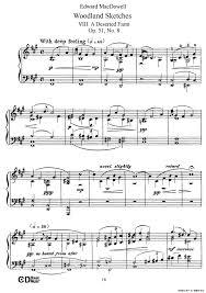 woodland sketches op 51钢琴谱 森林素描 8 器乐乐谱 中国曲谱网