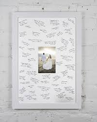 wedding signing book large framed personalised message wedding guest signature book