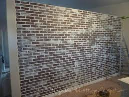 Faux Brick Interior Wall Covering The Not So Secret Life Of Jennifer Nicole Faux Brick Wall