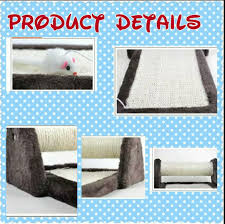 cat scratcher board with sisal pole hanging mouse ddhouse