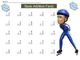 free winter basic math fact practice sheets with keys by