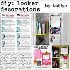 Diy locker decorations Polyvore
