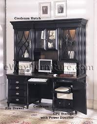 computer desk and credenza american federal black computer credenza and hutch