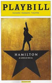 playbill wedding program hamilton an american musical playbill from april