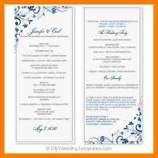 word template for wedding program 10 wedding program template word monthly budget forms