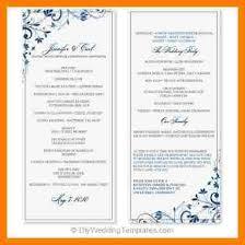 wedding program format 10 wedding program template word monthly budget forms