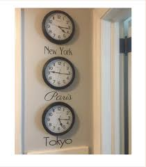 clock wall decal etsy time zone decal city names decal city names for clocks bucket list