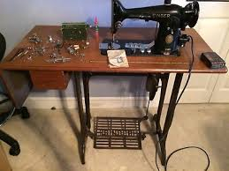Antique Singer Sewing Machine And Cabinet Sewing Machine Parts Sewing Pre 1930 Antiques Picclick