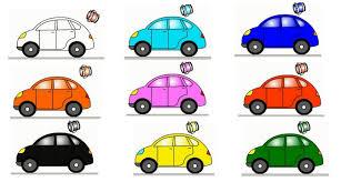 Colour Color Smart Kids Learn Color Cartoons For Children 5 Coloured Cars