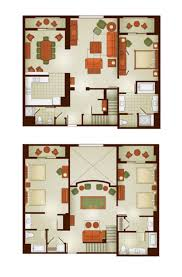 Bay Lake Tower Two Bedroom Villa Floor Plan Grand Californian Disney Vacation Club Grand Villa Disney