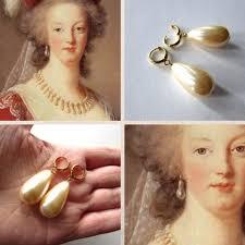 antoinette earrings antoinette inspired pearl and hoop earrings a la mode
