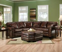 Rustic Leather Sofa by Leather Sectional Sofa
