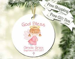 goddaughter christmas ornaments baptism ornament etsy