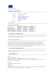 Resume Sample Format Word Document by European Resume Free Resume Example And Writing Download