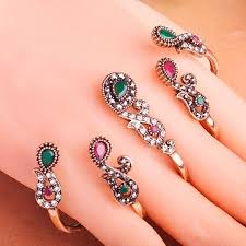 hand finger rings images Big four rings hands accessories fashion women vintage aneis ouro jpg