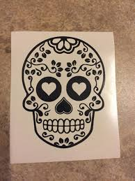 sugar skull decal etsy floral sugar skull decal tervis yeti rtic cup laptop car day the dead