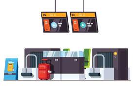airport desk clip art vector images u0026 illustrations istock