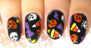 easy diy fun halloween party nail art sticker tutorial youtube