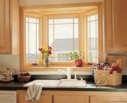 best idea of small kitchen bay window over sink with elegant