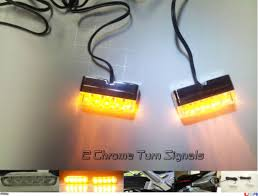 led light strip turn signal motorcycle parts 2x chrome front motorcycle led turn signal light