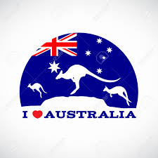 Austrslia Flag I Love Australia And Kangaroo And Australia Flag Royalty Free
