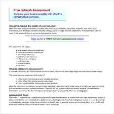 business assessment report template sle network assessment template 9 free documents in pdf
