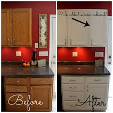 How To Paint New Kitchen Cabinets How To Paint Cabinets Dark Countertops Red Kitchen And Kitchens