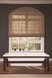 Wood Blinds For Arched Windows Woven Wood Roman Shade With Specialty Shape Arch Window Covering