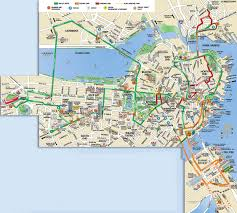 Maps Of Boston by Boston Hop On Hop Off Trolley Tour With Harbor Cruise In Boston
