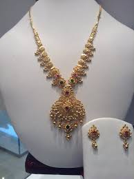 gold necklace simple design images Jewellery designs simple designer gold necklace jewellery sets jpg