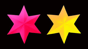 how to make a beautiful and simple 3d paper star very easy